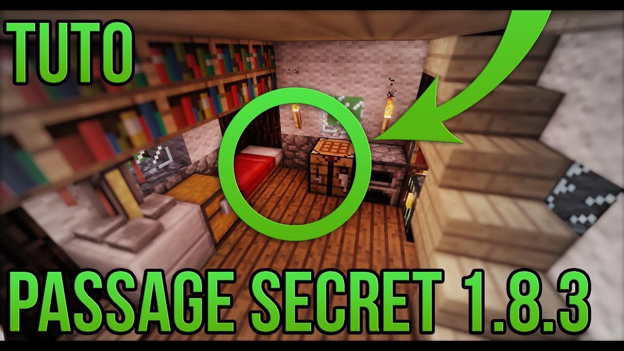 passage secret 1 8 3 facile minecraft youtube. Black Bedroom Furniture Sets. Home Design Ideas