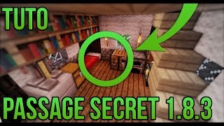 PASSAGE SECRET 1.8.3 FACILE! | Minecraft
