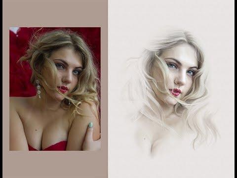Обработка фотографии в стиле портретов Бек Уинел