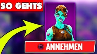 FORTNITE SKINS GIFT COMES MORGEN!? SKINS to give away to friends feature! Fortnite German