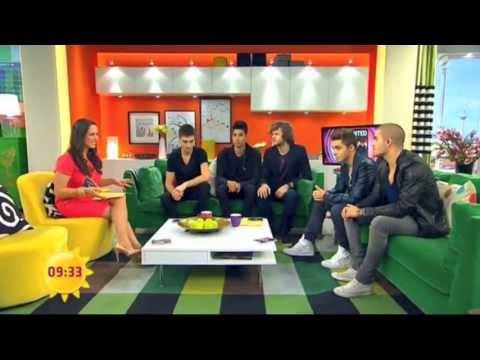 The Wanted on German Breakfast Television   Sat.1 Frühstücksfernsehen