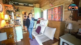 She Lives In A 180 Sq Ft Tiny House - DIY Murphy Bed & Other Clever Build Designs