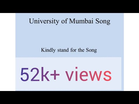 University Song ppt  video