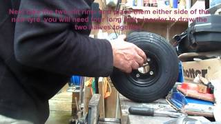 Puncher Proof Tyre Change On A Mobility Scooter