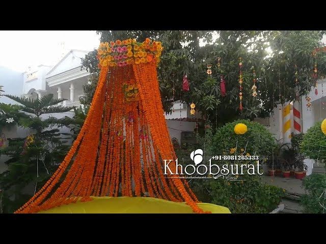 mehndi sangeet haldi decor by khoobsurat events