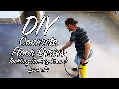 How to make cement floor polish