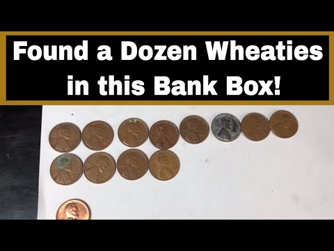 Coin Roll Hunting Pennies - 12 More Wheaties Found!