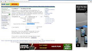 How to Track Adsense Check for Indian Publishers|Updated 12th Jan 2014|BonusTutorial|Using Bluedart