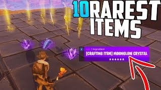 10 of the RAREST Items in Fortnite Save The World!