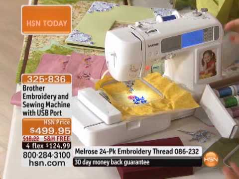 Brother embroidery and sewing machine with usb port youtube