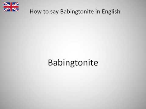 How to say Babingtonite in English?
