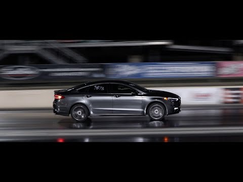 Ford Fusion Sport drag strip racing 1/4 mile