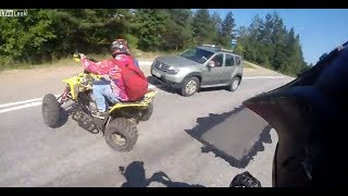 ATV crashes into Car head on