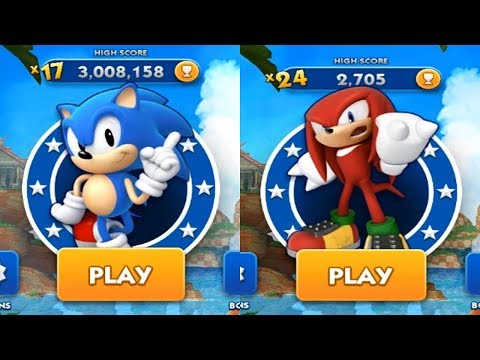 Sonic Dash Android Gameplay - CLASSIC SONIC VS KNUCKLES