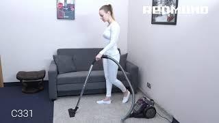 Пылесос с мультициклоном REDMOND RV-C331 для быстрой уборки пола, мебели, текстиля