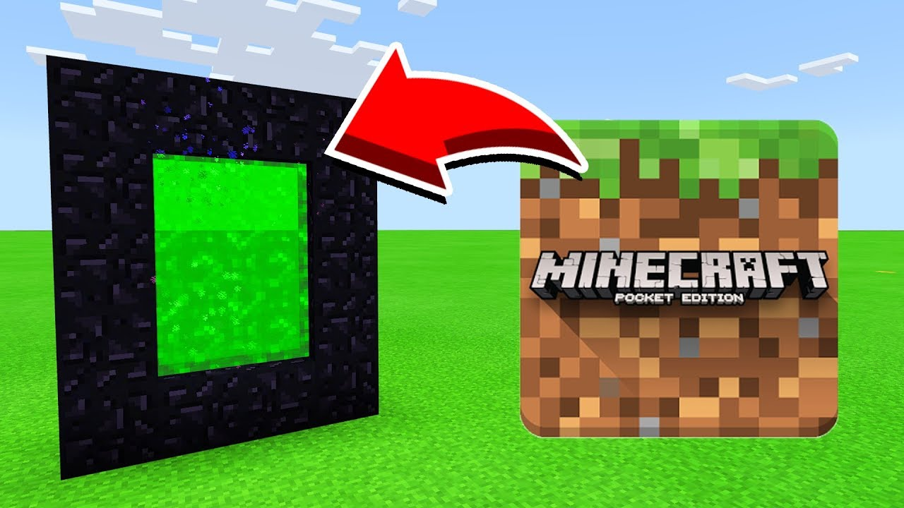 How To Make A Portal To The MINECRAFT DIMENSION in Minecaft Pocket  Edition/MCPE