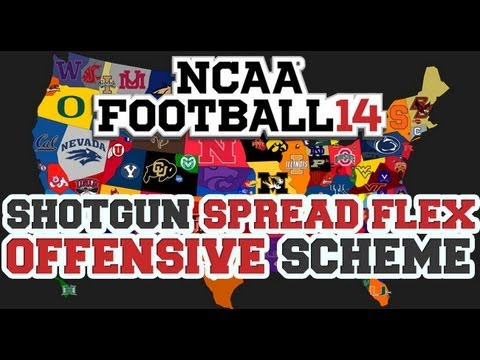 NCAA 14 Offensive Scheme Spread Flex Shotgun