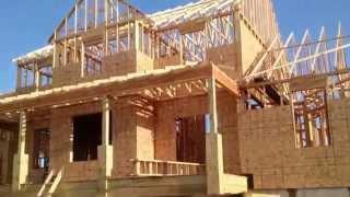USA КИНО 124. Как строят дома в США. Построен каркас. Часть 3.