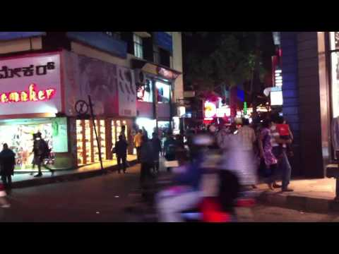 Busy street in Bangalore