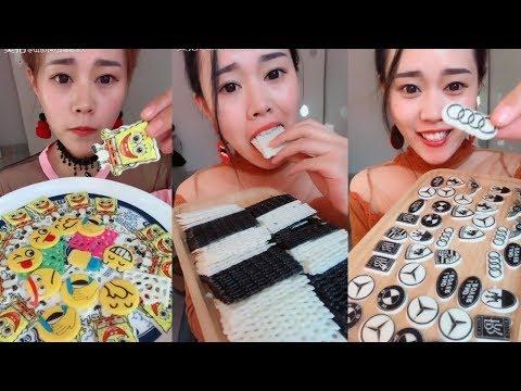 (NO TALKING) FROZEN CHOCOLATE EATING COMPILATION   ASMR