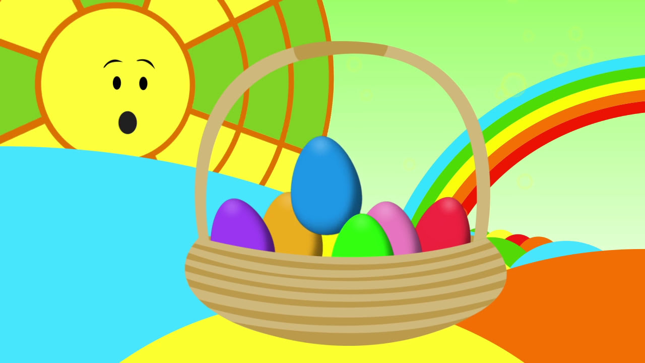 Animated Surprise Easter Eggs for Learning Colors Part II - YouTube