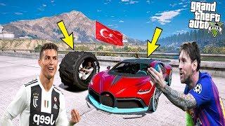 RONALDO ÇİN'DEN GELEN TEKERLEK ARABAYLA MESSİ'Yİ TROLLÜYOR! - GTA 5