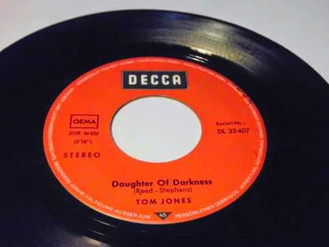 TOM JONES Daughter Of Darkness PLAK RECORD 7