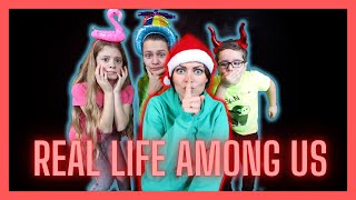 AMONG US IN REAL LIFE MET BROER EN ZUS TV! KELLY IS IMPOSTER! Vlog #55 Kelly N yoran