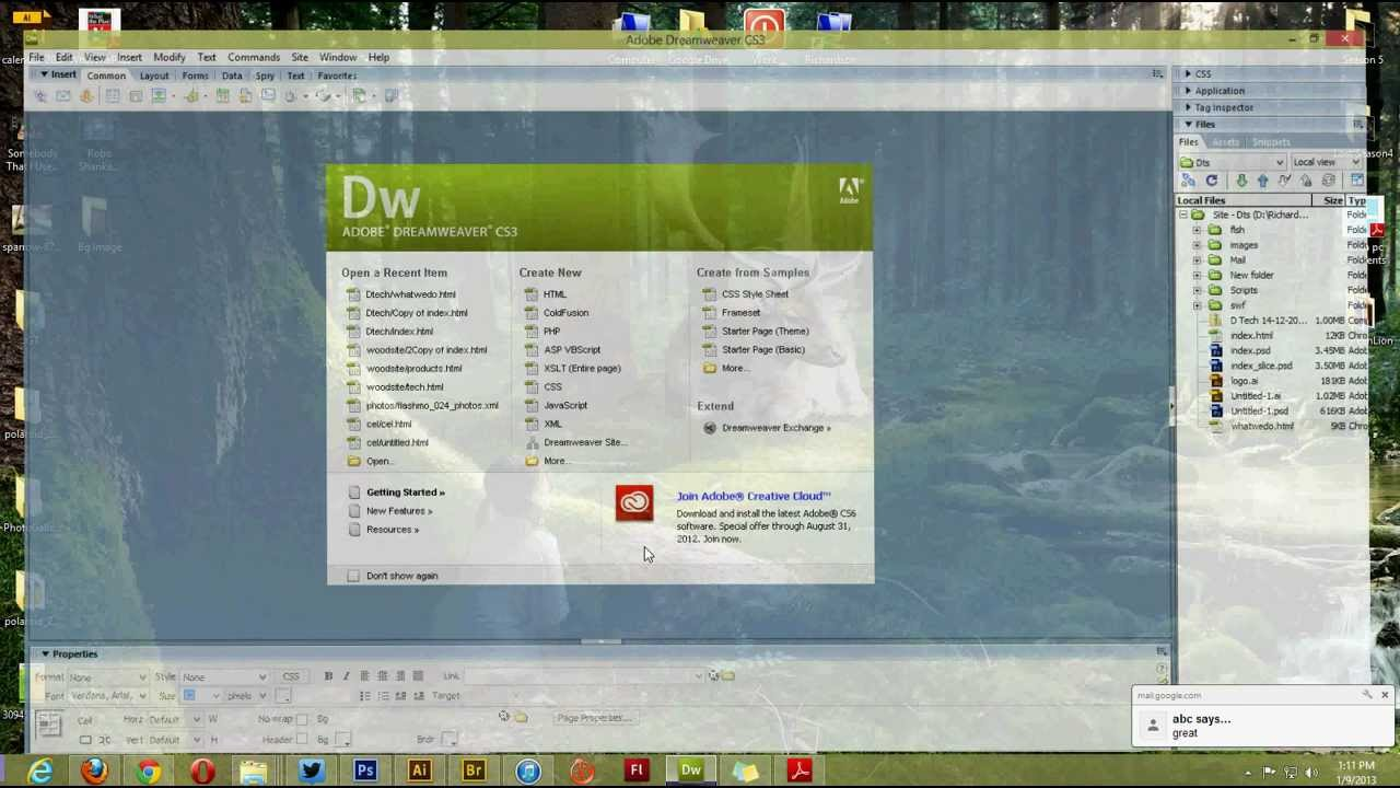 Background image dreamweaver - Background Image Stretching With Dreamweaver Cs3
