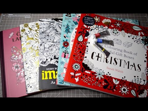 - New Coloring Books Unboxing Johanna Basford Christmas Imagimorphia  Magical Delights + Others - YouTube