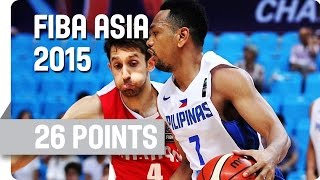 Jayson William's 26 Points v Iran - 2015 FIBA Asia Championship