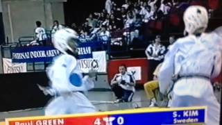 Olympic Taekwondo Coach Paul Green In Action Before He Retired From Competing