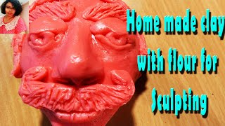 HOW TO MAKE HOME MADE CLAY WITH FLOUR FOR SCULPTING BY MAUSUMI ROY