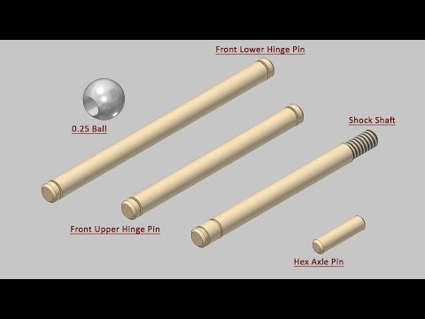 Miscellaneous Components Of 'Suspension' Series-1 (Autodesk Inventor)