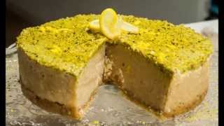 Raw Lemon Pistachio Nut Cake