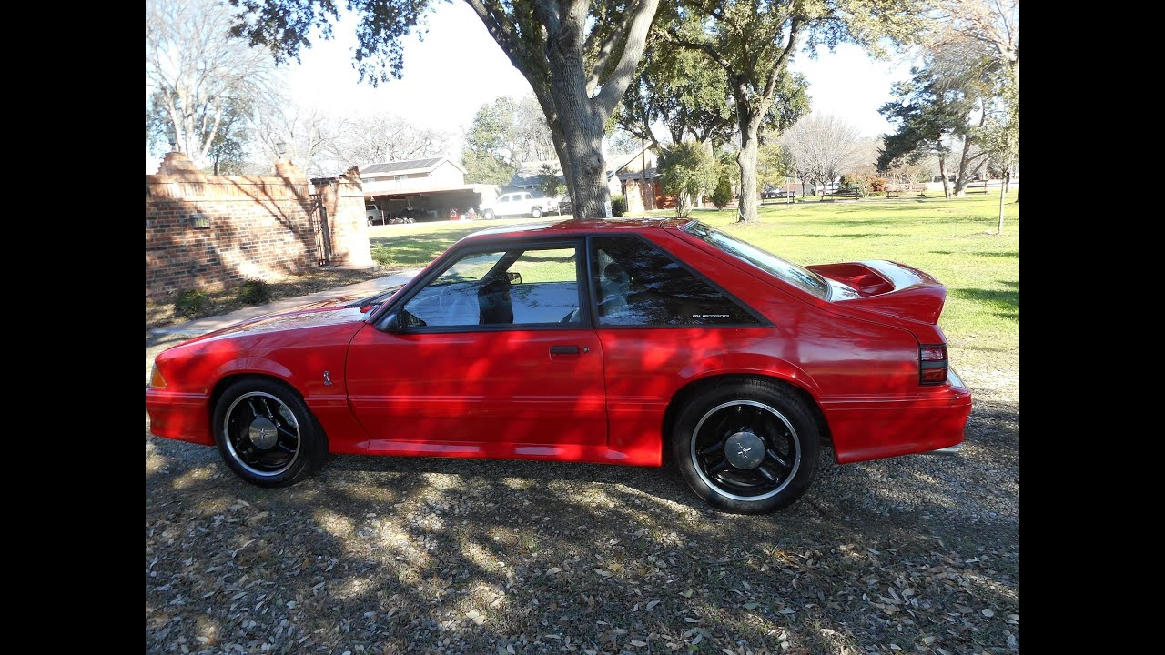1993 ford mustang cobra r code coupe youtube. Black Bedroom Furniture Sets. Home Design Ideas