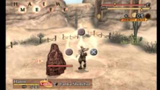 Magna Carta PS2 Gameplay #46 Haren training with expert trainer at entress desert