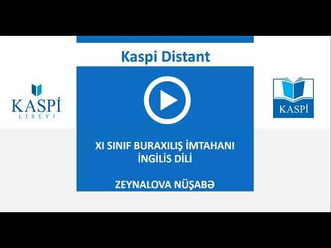 11-ci sinif buraxılış imtahanı (19.06.2020) - İngilis dili testlərin və sualların video izahı