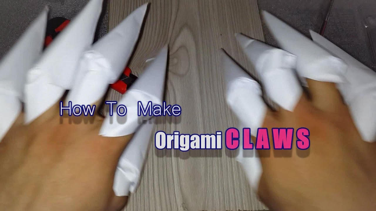 How To Make Origami Nightmare Freddy U0026 39 S Nail Claws Easy With Paper