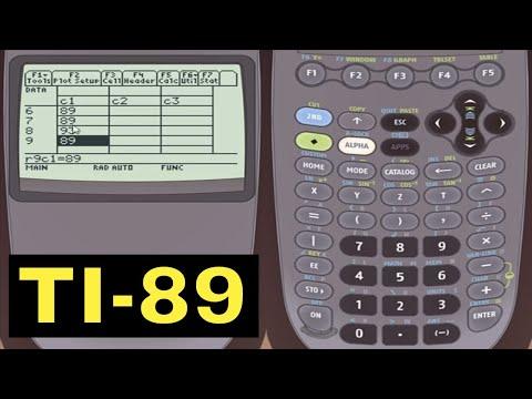 TI-89 Calculator - 20 - Entering Statistical Data