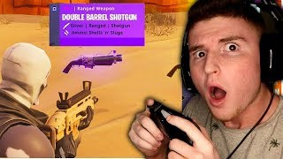 NEW DOUBLE BARREL GOLD SHOTGUN IN FORTNITE!
