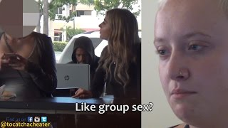 GIRL TESTS HER GIRLFRIEND'S LOYALTY AT A STARBUCKS! thumbnail
