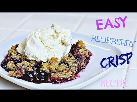 EASY BLUEBERRY CRISP RECIPE HEALTHY