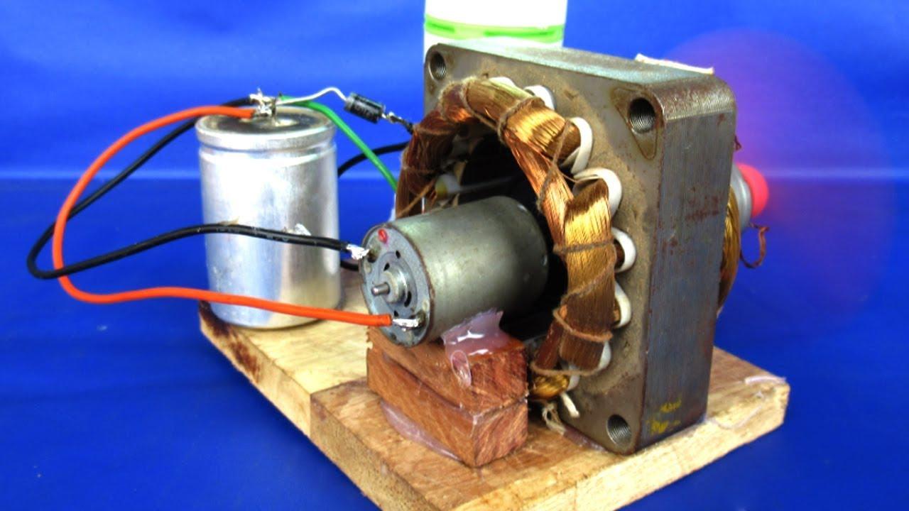 New free energy electric dc motor generator 220v AC to 12V ...