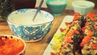 Jamie Oliver's Food Tube Star Competition: Chicken Skewers With Red Pepper Harissa & Saffron Rice