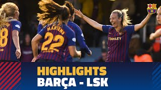 FC BARCELONA 3-0 KVINNER | Match highlights (UWCL)