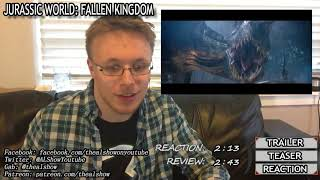 Jurassic World Fallen Kingdom Trailer Tease Reaction & Review