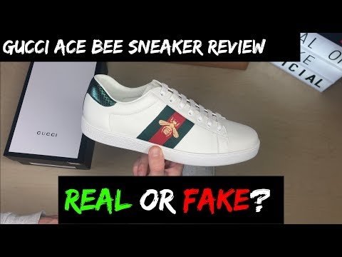 GUCCI ACE BEE SNEAKERS REVIEW (REAL OR