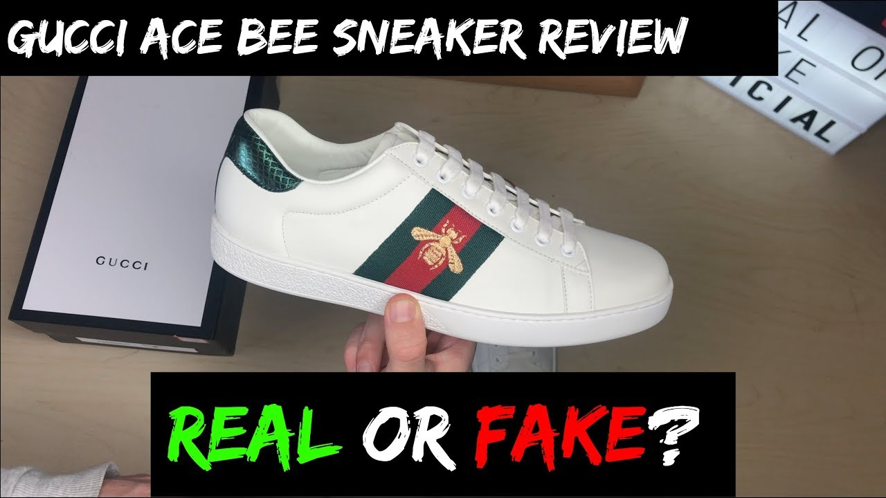 10b901f5e10f GUCCI ACE BEE SNEAKERS REVIEW (REAL OR FAKE!?) - YouTube