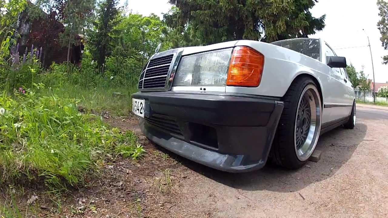 Mercedes benz 190e gopro 2 hd youtube for Mercedes benz 190e front bumper